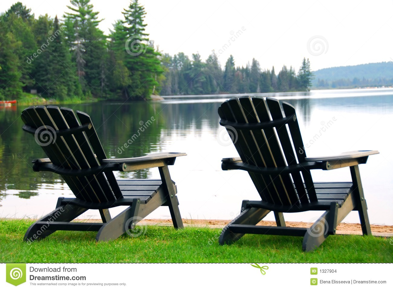 plans for adirondack chair benefits of stability ball lake beach chairs stock images - image: 1327904