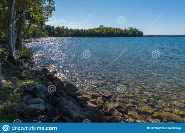 lake manitou shoreline landscape