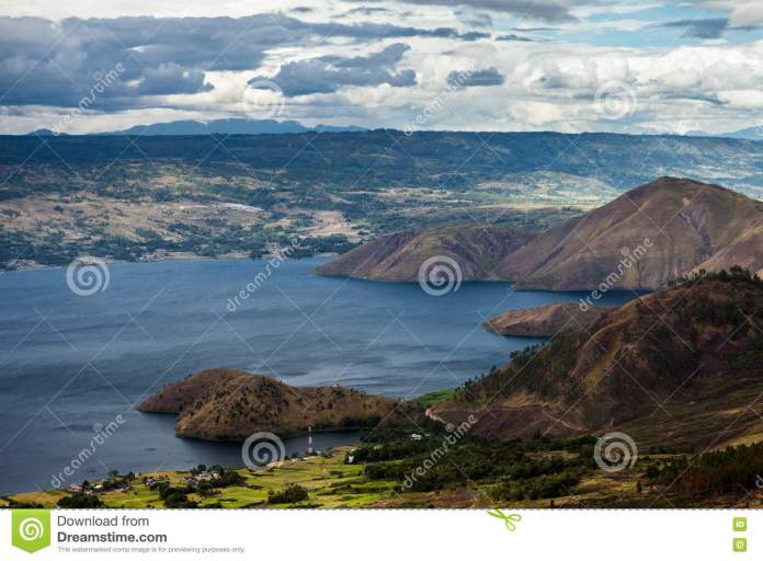 Lake Toba In Indonesia Largest Volcanic Lake In The World Stock Photo Image Of Green Landscape 75979700
