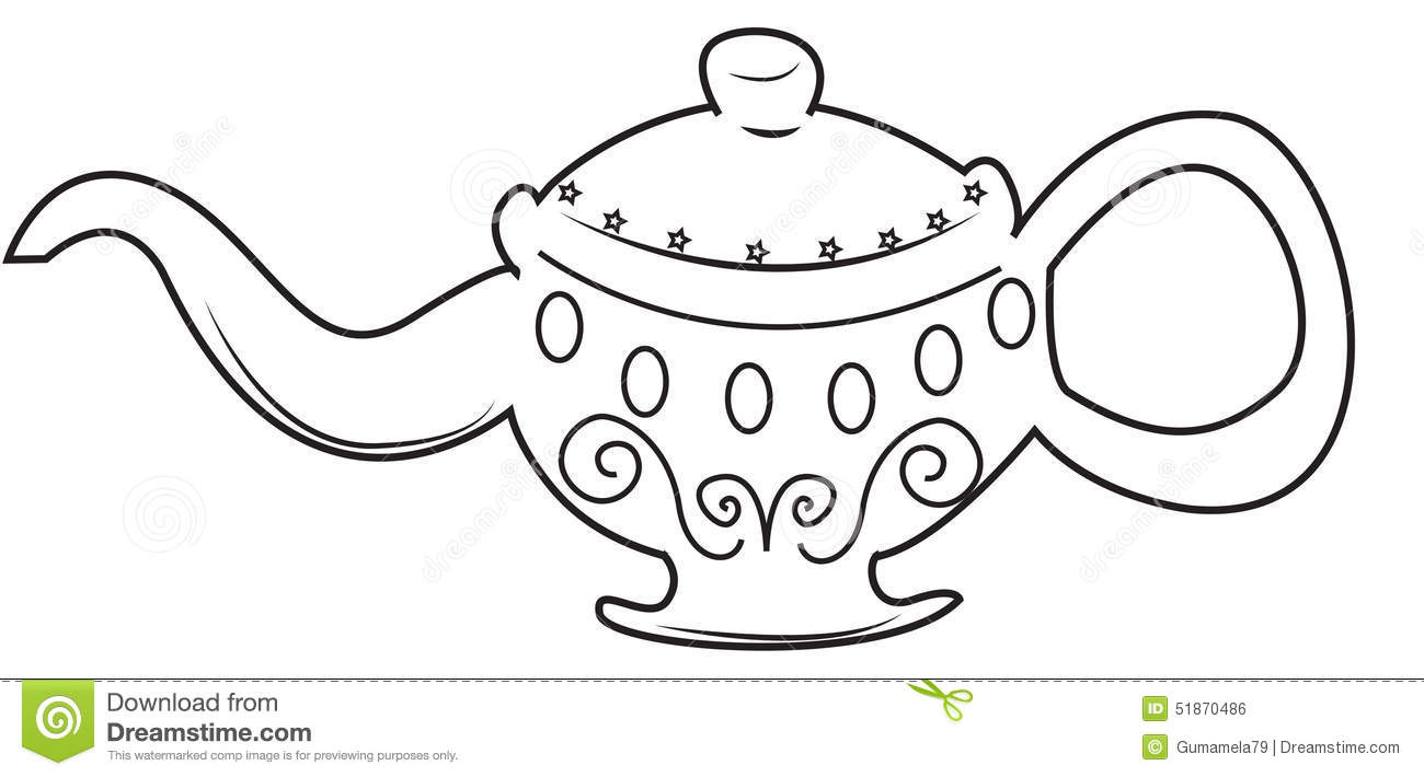 Lamp coloring page stock illustration. Illustration of
