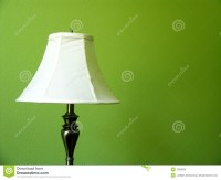 Lamp on Green wall stock photo. Image of decoration, shade ...