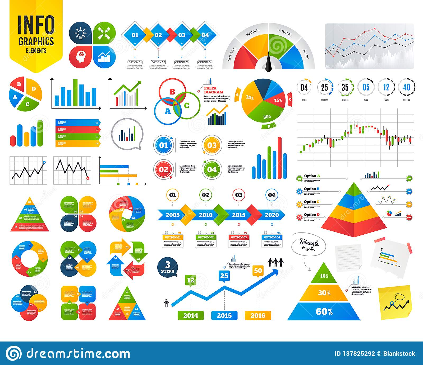 hight resolution of business infographic template lamp idea and head with gear icons graph chart diagram sign teamwork symbol financial chart time counter vector