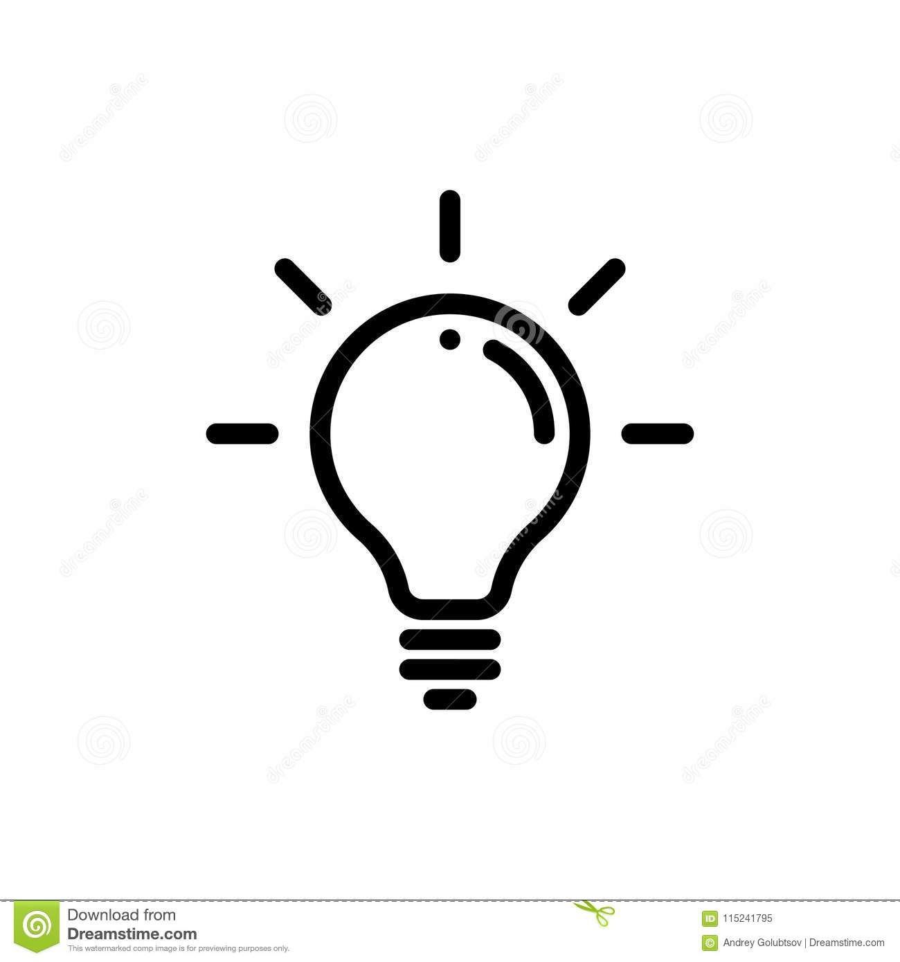 Lamp Light Bulb Vector Icon Stock Vector