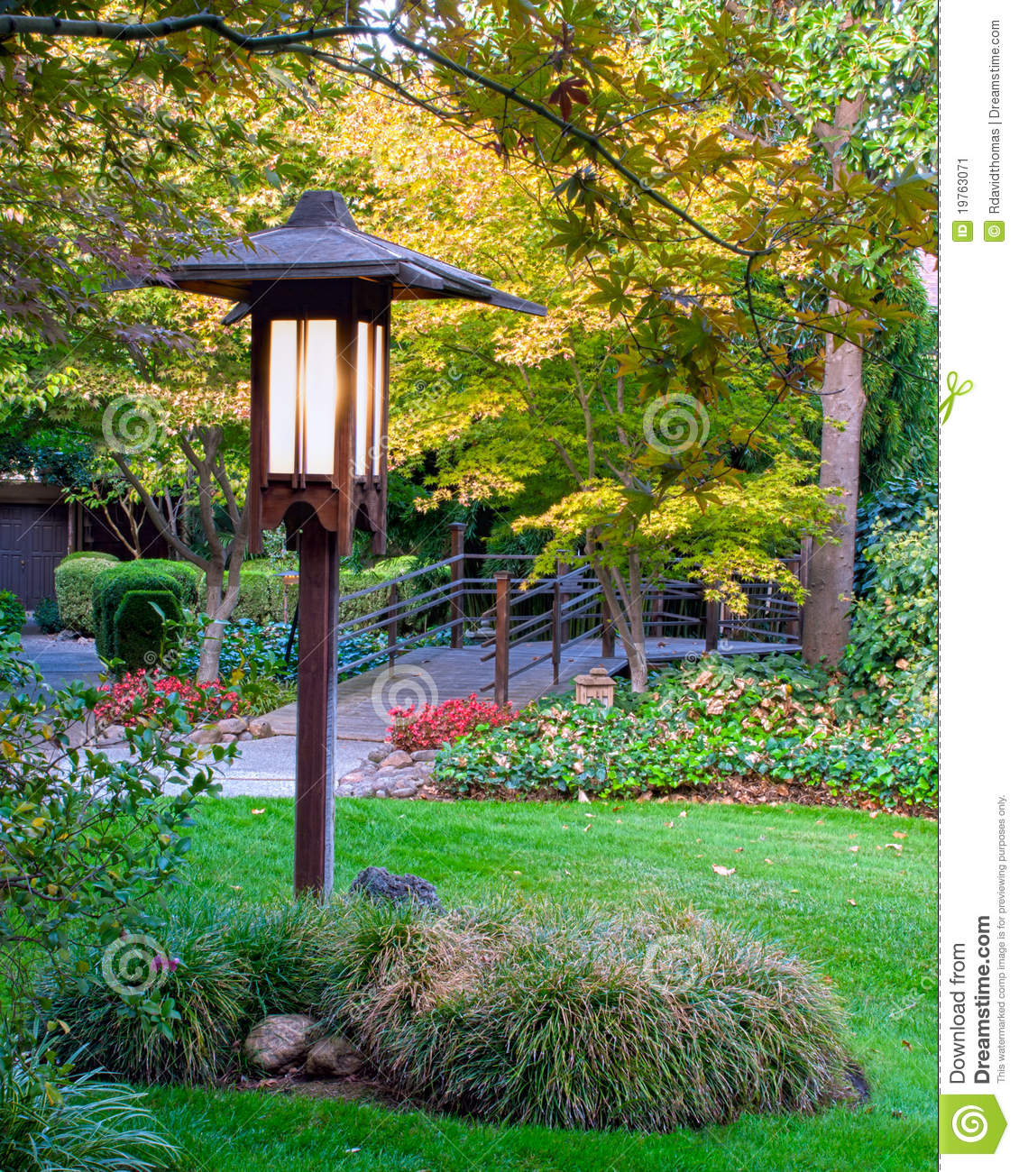 Lamp Post Stock Image Image Of Fall Peace Inviting