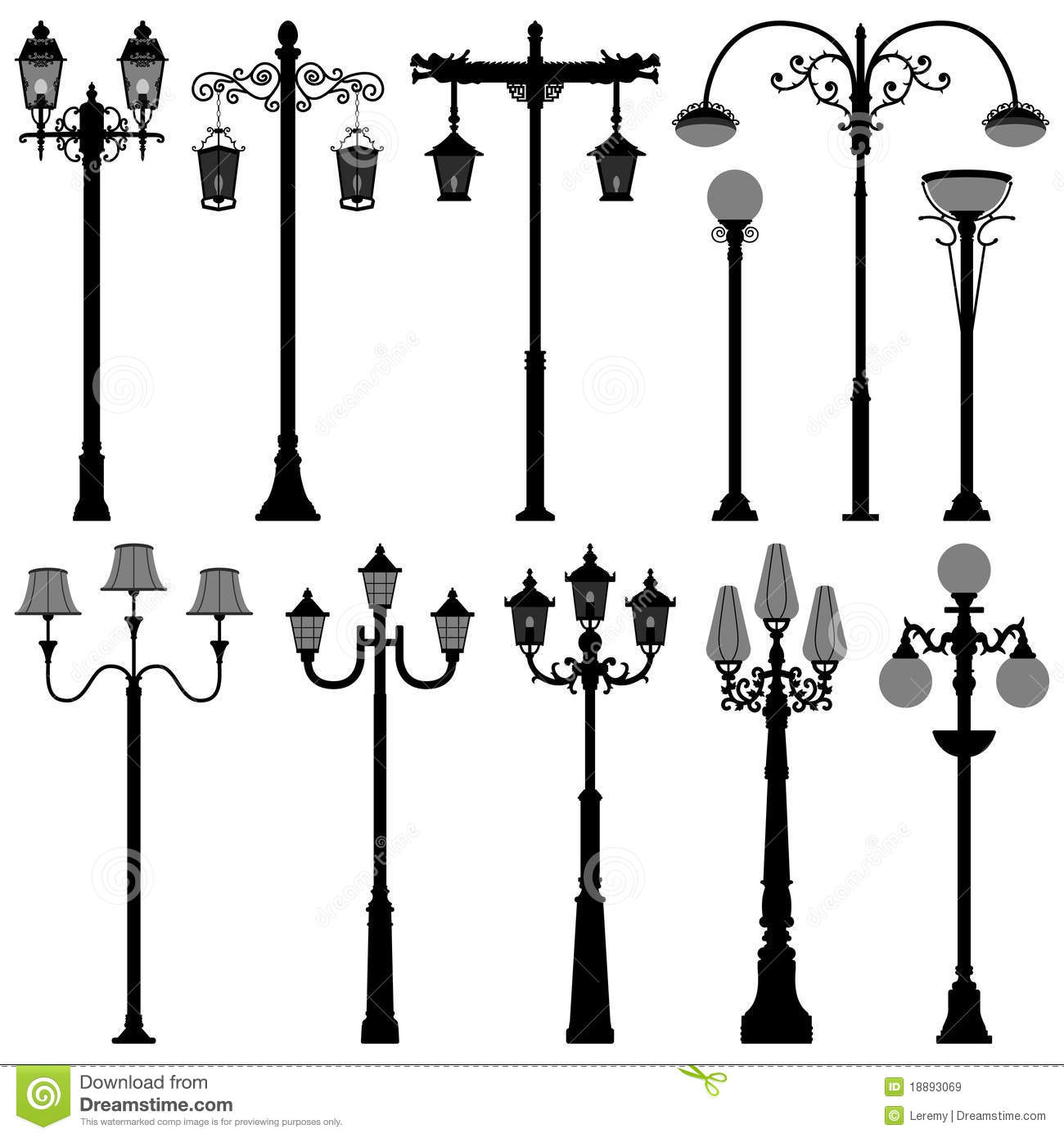 Lamp Post Lamppost Street PoleLight Royalty Free Stock