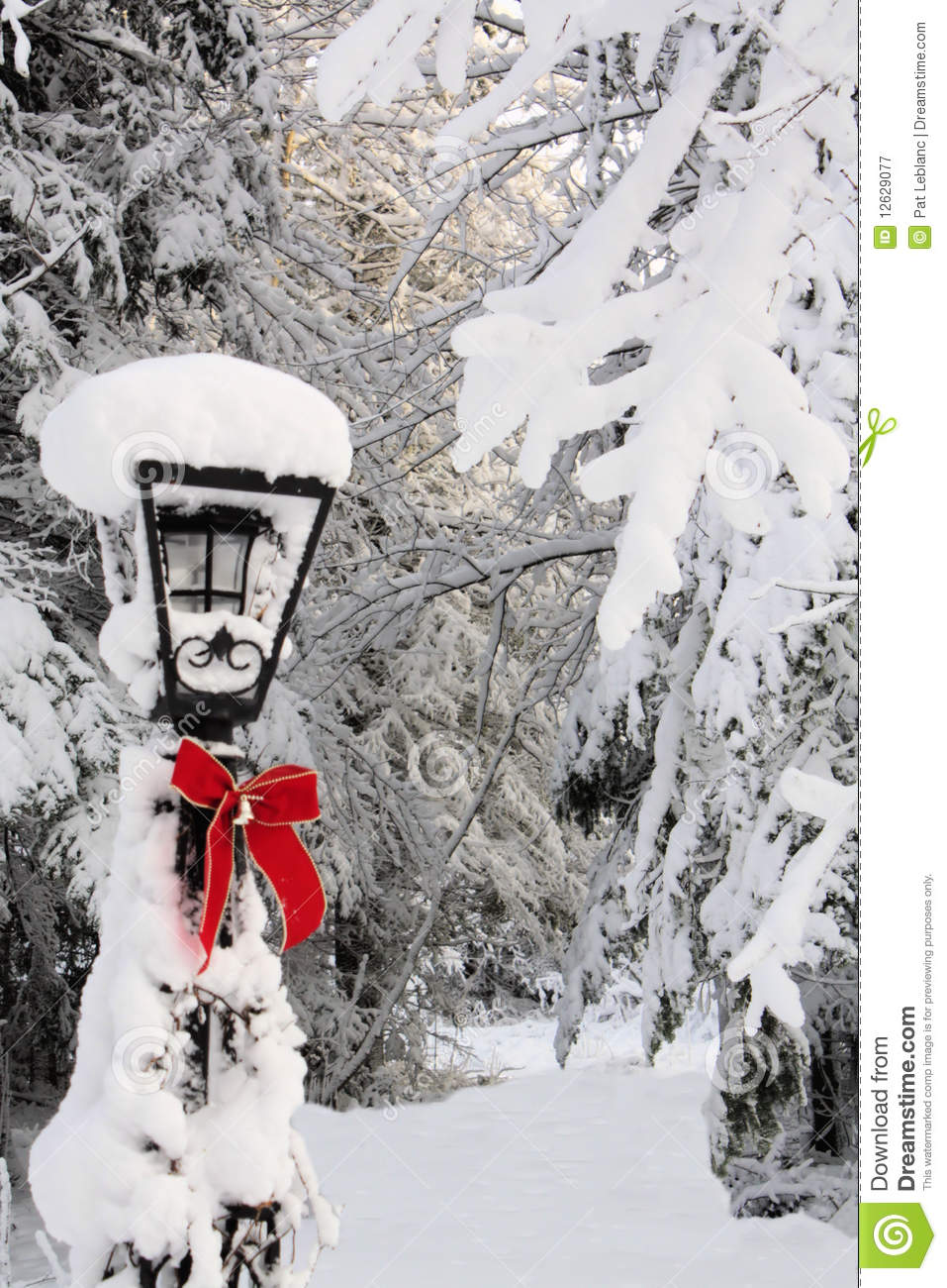 Lamp Post In Winter Royalty Free Stock Photography Image