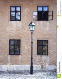 Lamp and windows stock image. Image of city, light, glass ...
