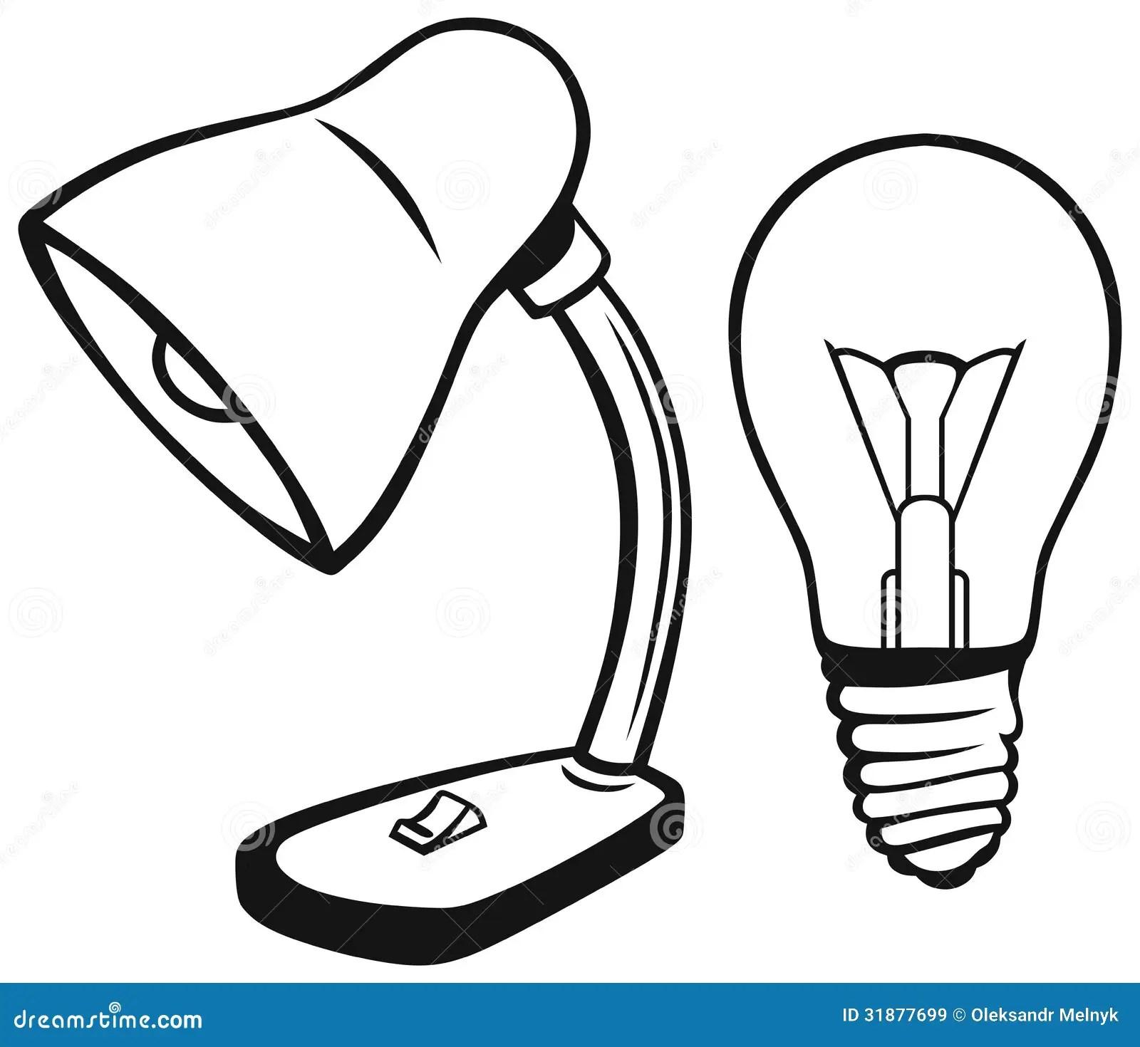 Lampe De Bureau Illustration De Vecteur Illustration Du