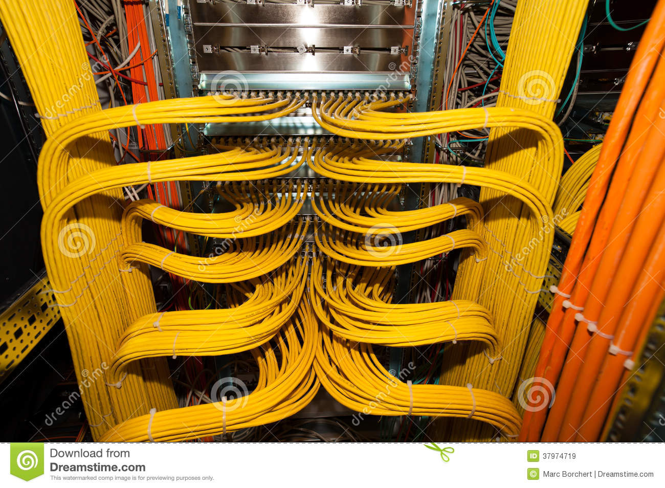 hight resolution of it lan cable connection redundancy in a datacenter