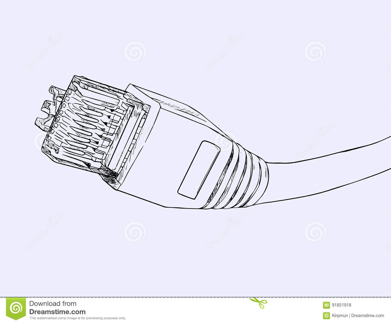 hight resolution of lan cable network internet