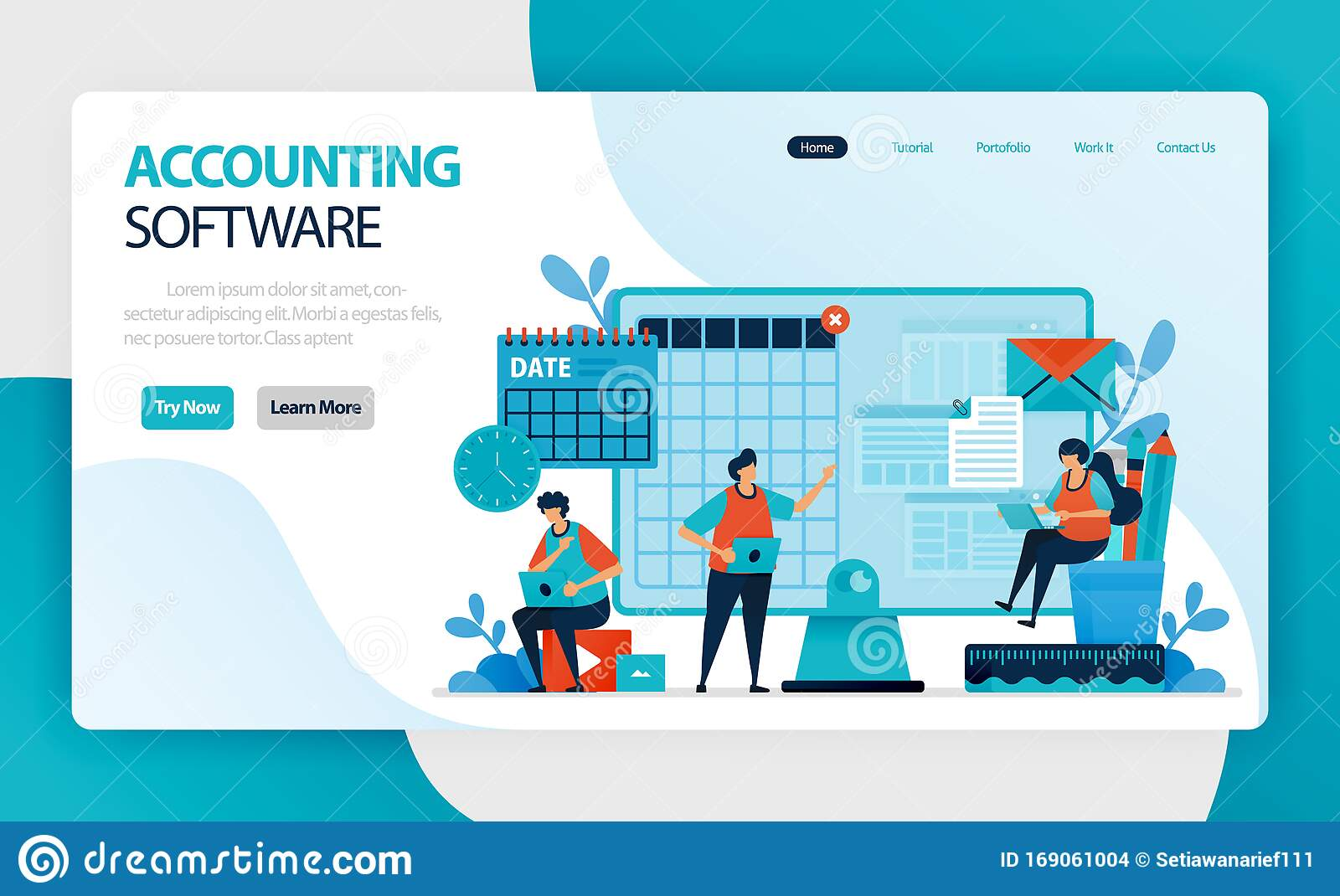 Landing Page Of Accounting Software Accounting Process Of