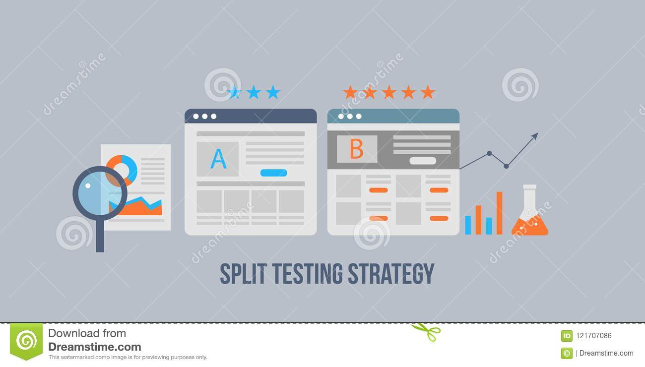 hight resolution of landing page split test ab test for audience interaction development digital marketing strategy