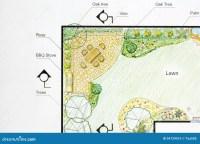 Landscape Architect Design Garden Plan Stock Image - Image ...