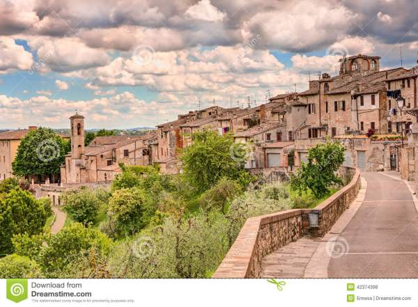 Landscape Of Colle Di Val D39Elsa Tuscany Italy Stock