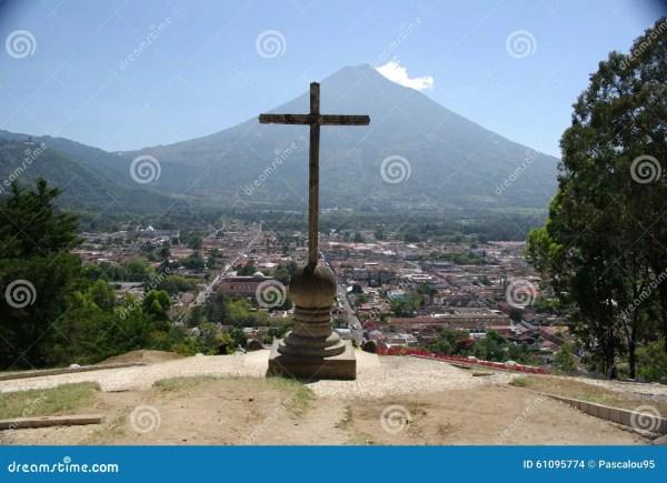 landscape in guatemala stock