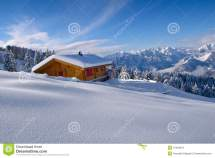 Scene With Igloo Snowing Day Vector Illustration
