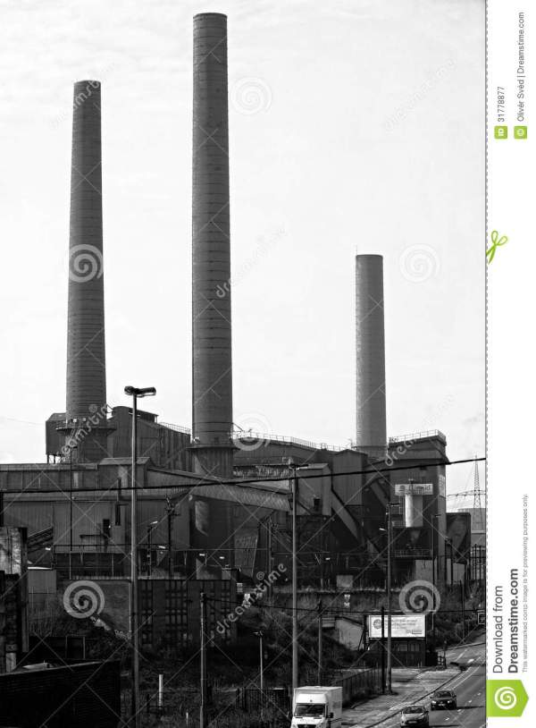 landscape with industrial architecture