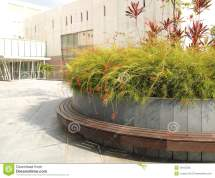 Landscaping City Offices Area Royalty Free Stock