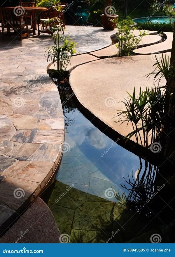 landscaping - tropical resort concrete