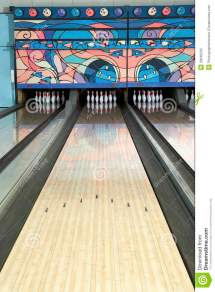 Lane Of Bowling Alley Stock Absence