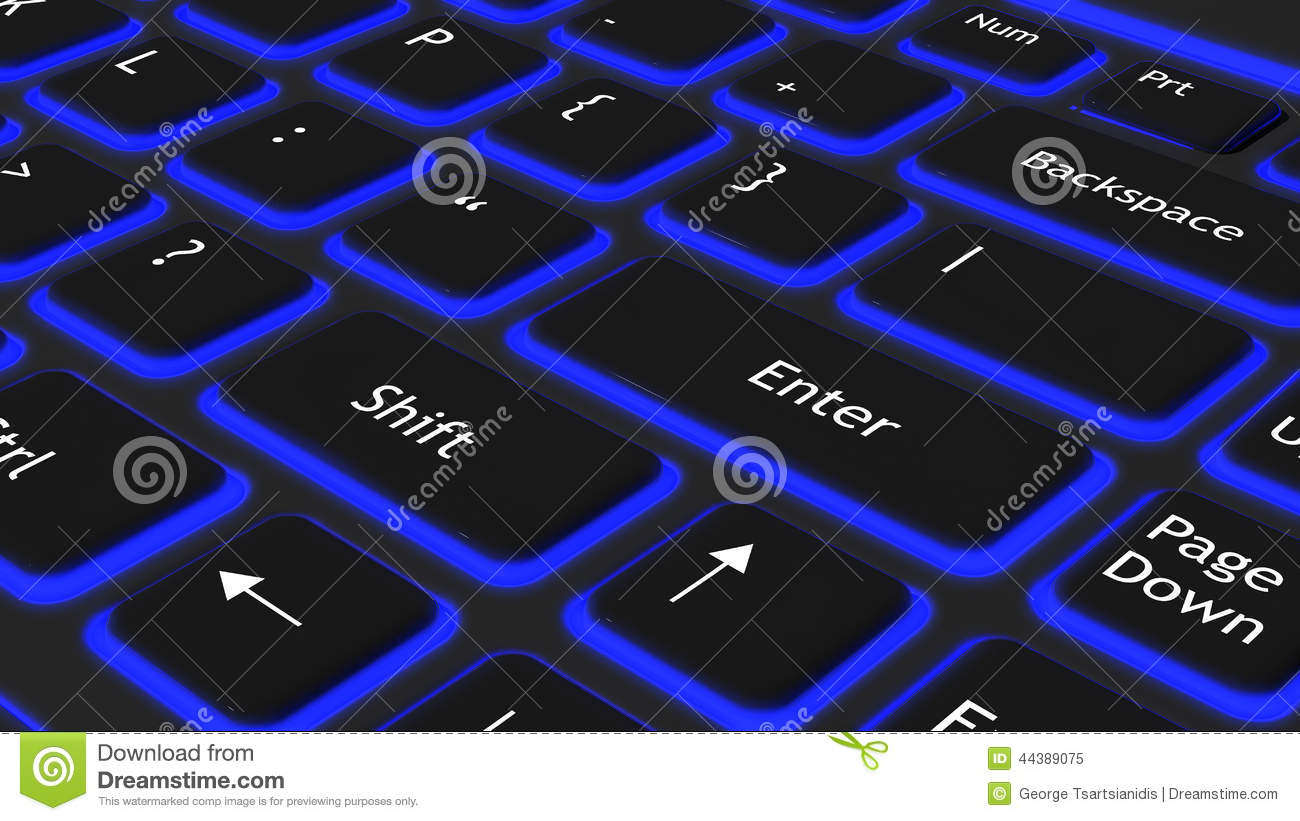 Laptop Black Keyboard Stock Illustration Image 44389075