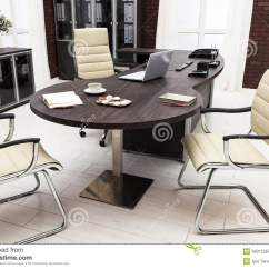 Office Chair Penang Valet Stand Gentleman's Organizer Laptop On A Table Royalty Free Stock Photography Image