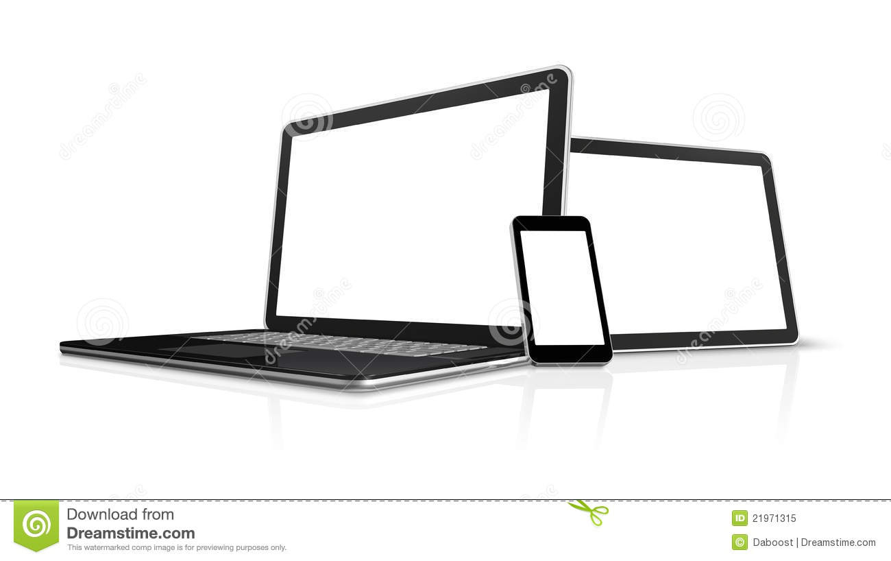 Laptop Mobile Phone Digital Tablet Pc Royalty Free Stock Photography