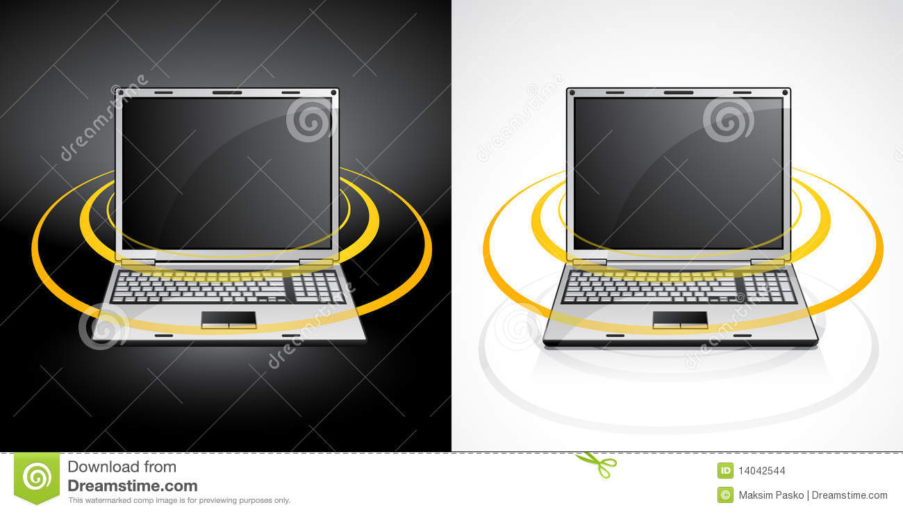 laptops with wireless signal
