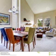 Tall Living Room Tables Warm Paint Colors For Large Beige Bright With Dining Table Different Color Chairs