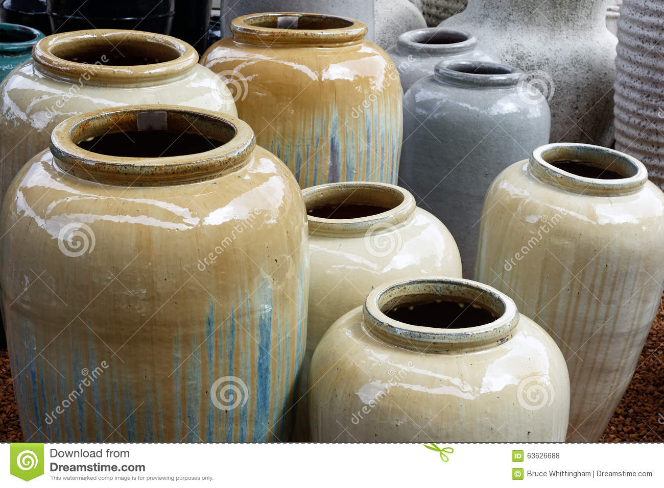 Plant Glazed Pots Large Ceramic