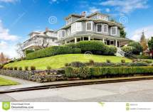 Large Luxury Green Craftsman Classic American House