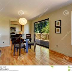 6 Dining Room Chairs Chair Design Plans Large Open Space With Table And Balcony Door. Stock Image - Image: 32017223