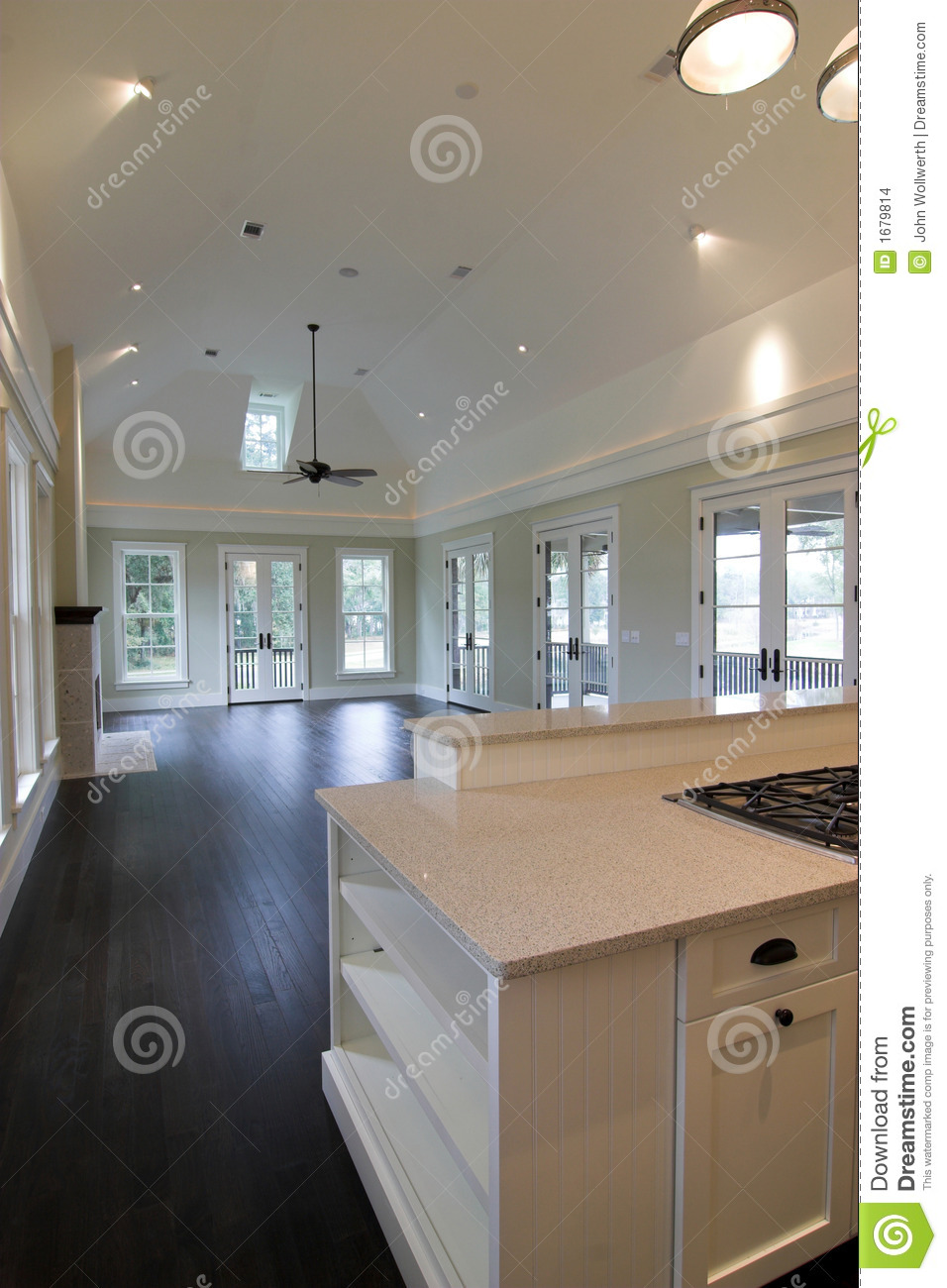 kitchen cabinet plans wusthof knives large studio apartment stock images - image: 1679814