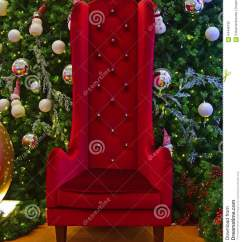 Santa Claus Chair Outdoor Covers Bunnings Large Tall For With Green Christmas Tree