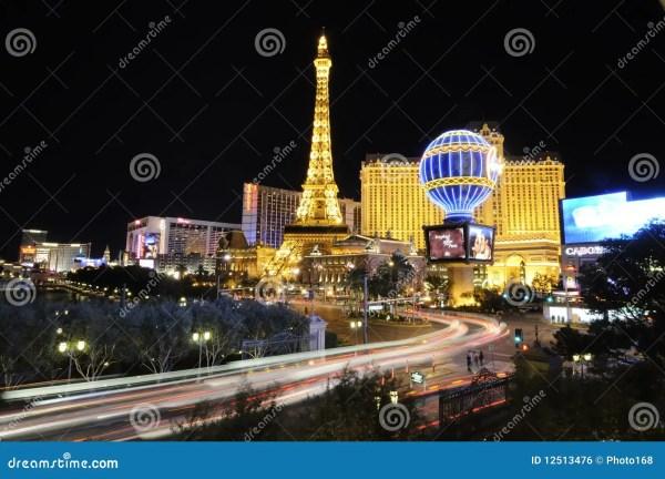 Las Vegas Landmarks Night Editorial - 12513476