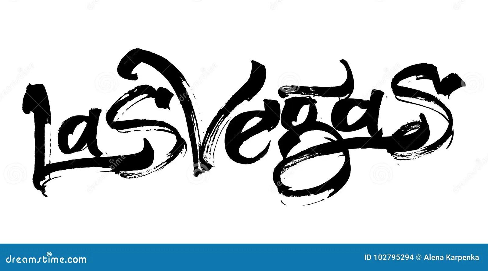 Las Vegas. Modern Calligraphy Hand Lettering For