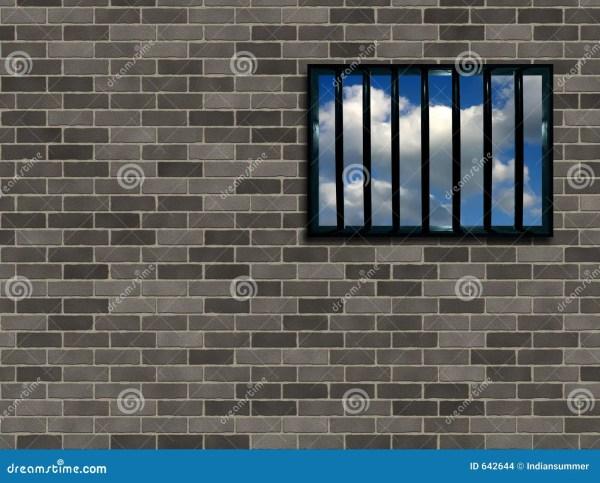 Latticed Prison Window Stock Illustration. Illustration Of