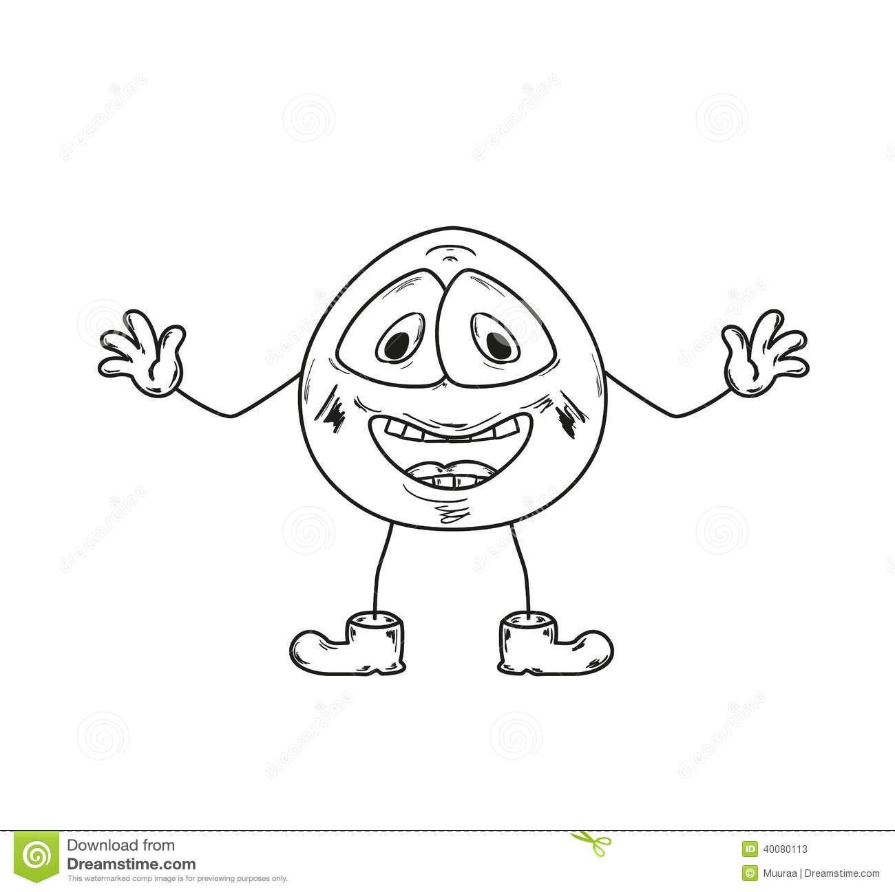 Laugh Emoticon Sketch Stock Illustration