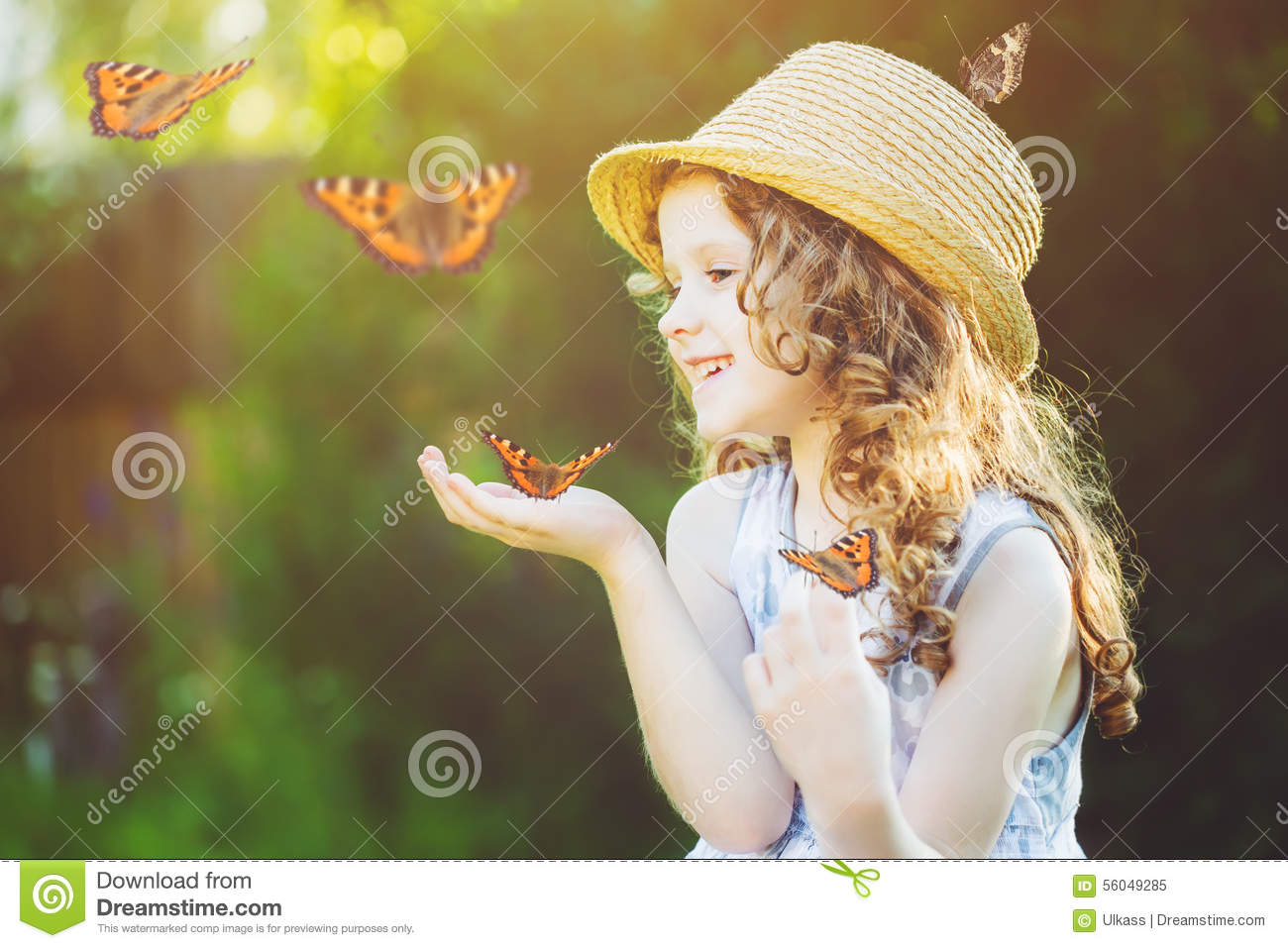 Cute Little Girls Laughing Wallpaper Laughing Little Girl With A Butterfly On His Hand Happy