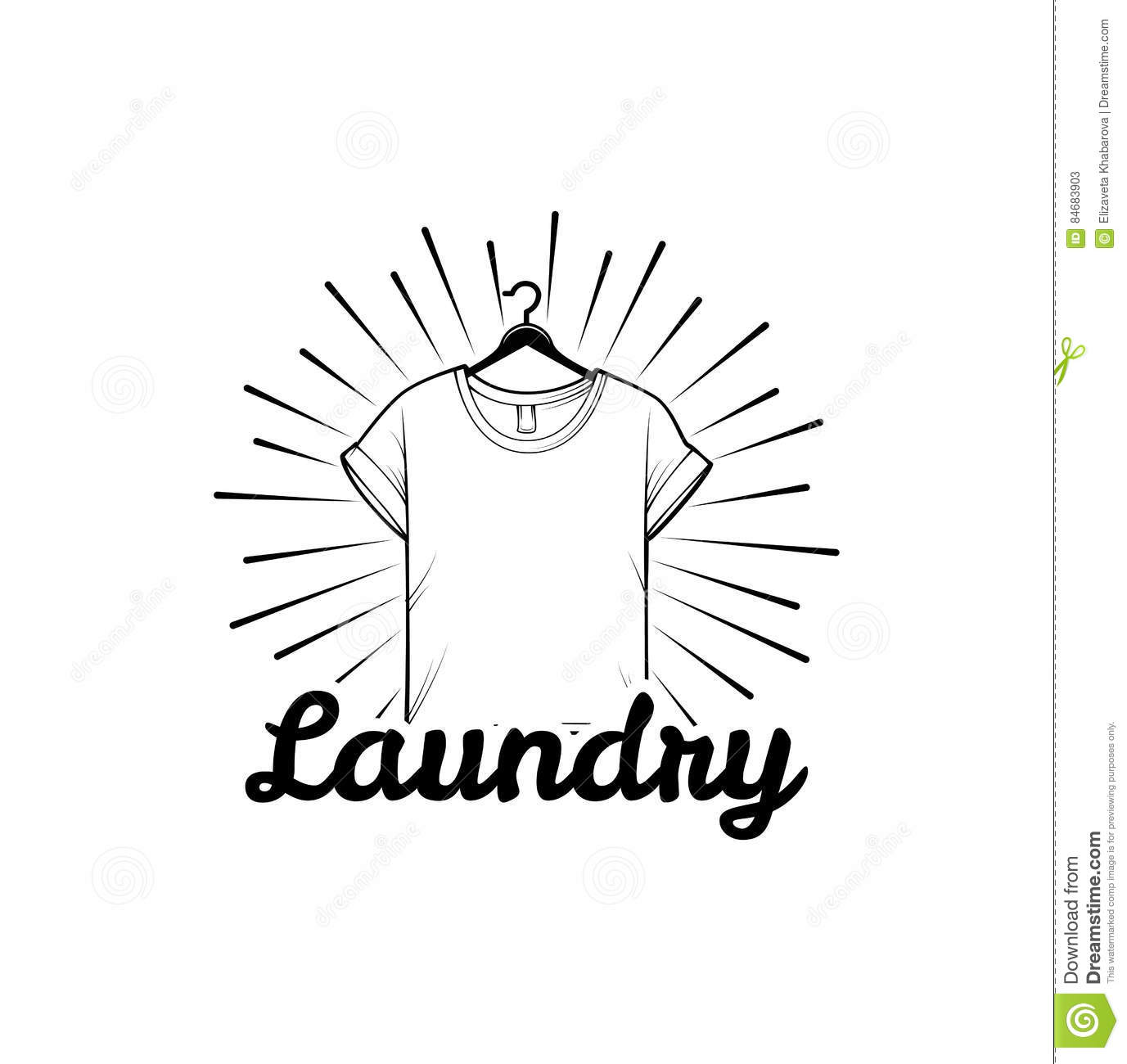 Laundry And Dry Cleaning Logo Emblem And Design Element