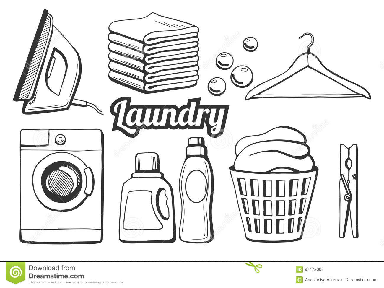 Laundry Cartoons, Illustrations & Vector Stock Images