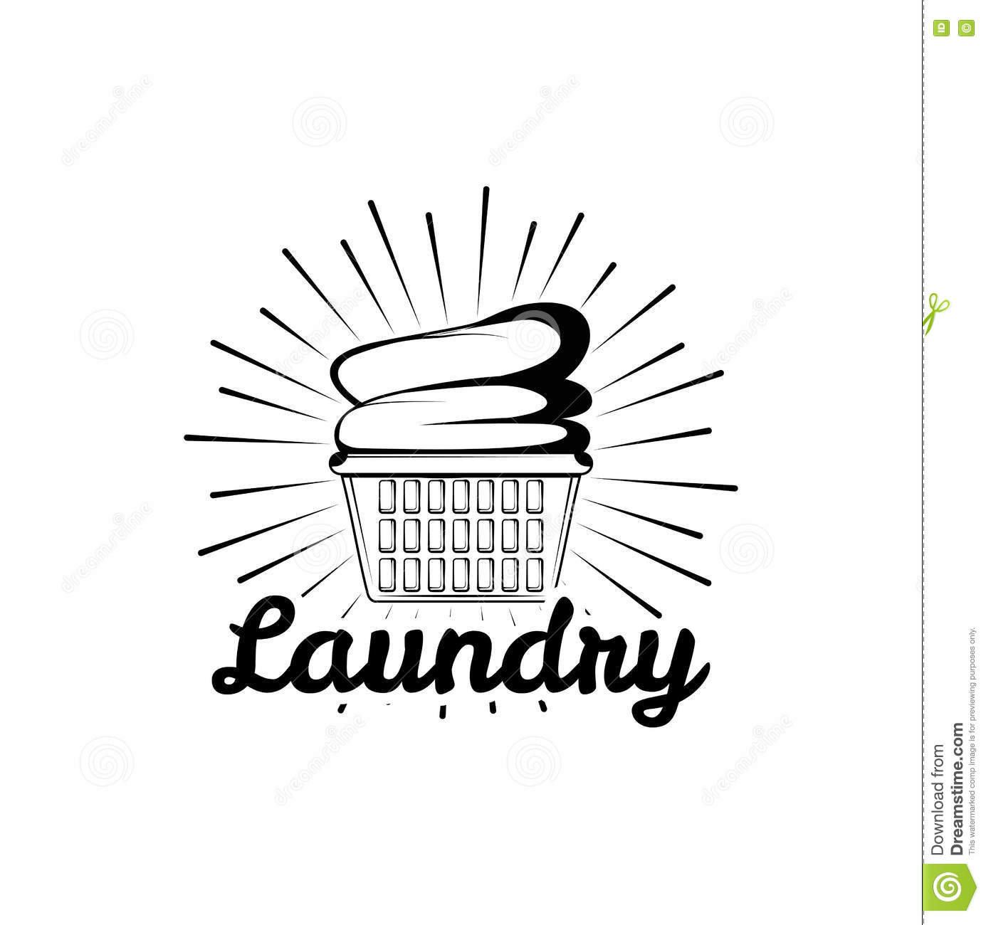 Laundry Room Vintage Logo Label Badge With Clean Clothes