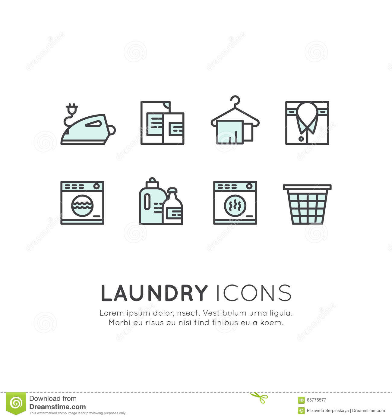 Clothes Dryer With A Sign Vector Illustration