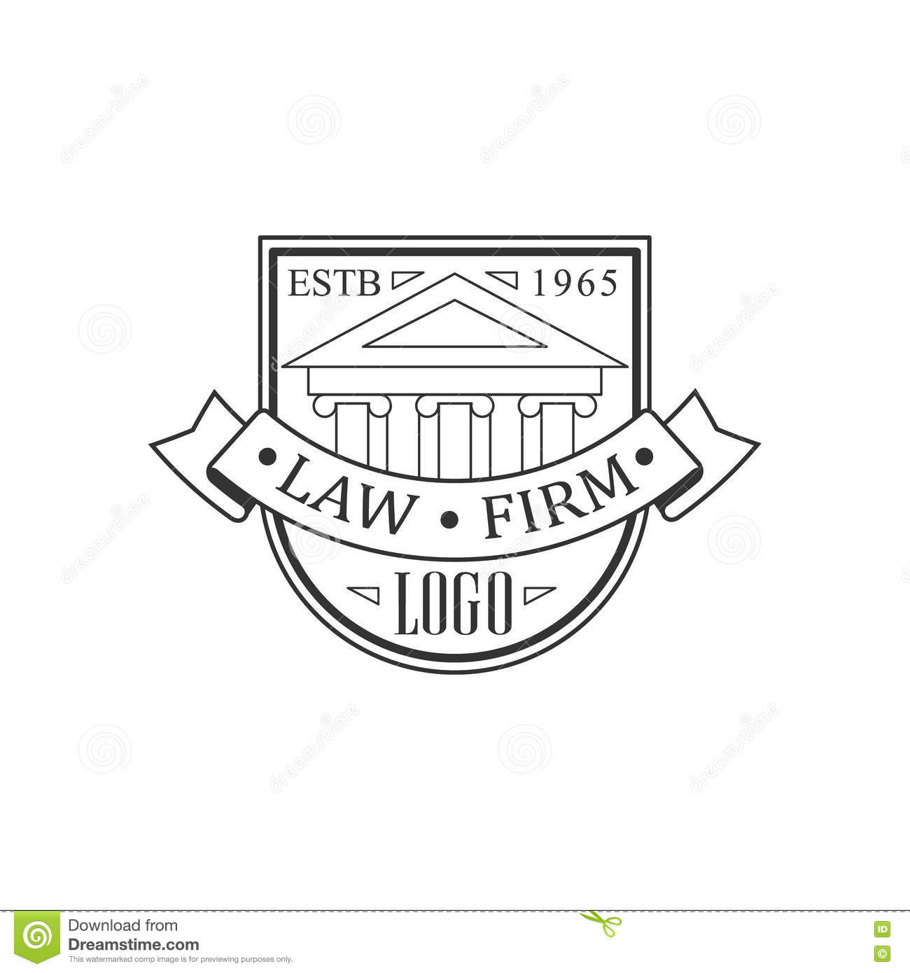 2d Logo Lawyer Cartoon Vector