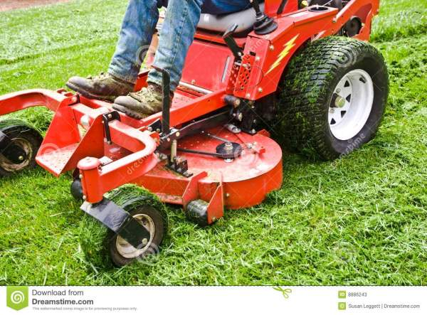 lawn care riding mower grass