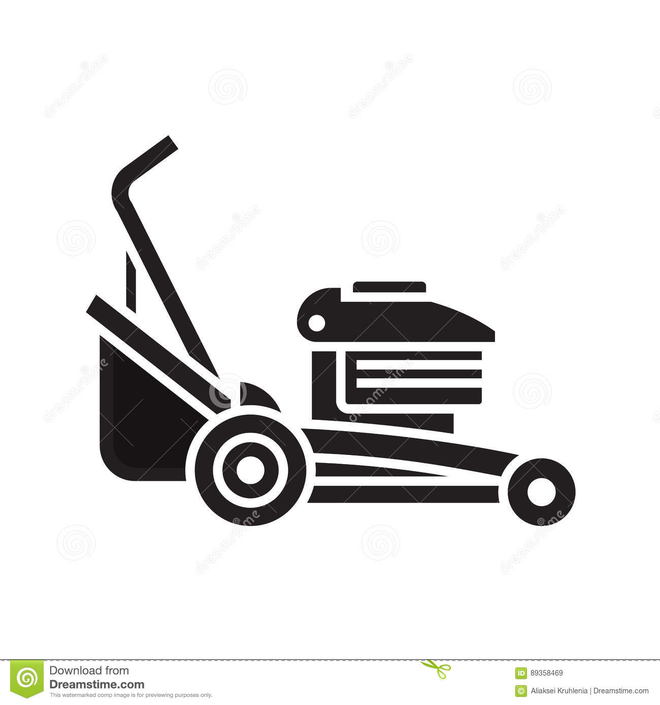 Lawn Mower Icon Stock Vector