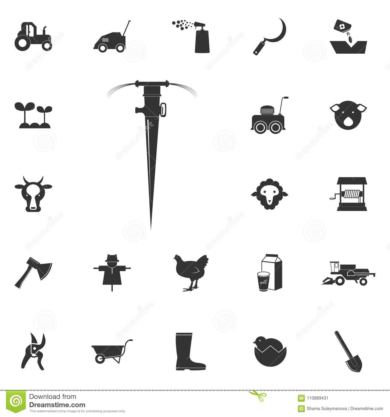 Lawn Watering Icon Element Of Farming And Garden Icons