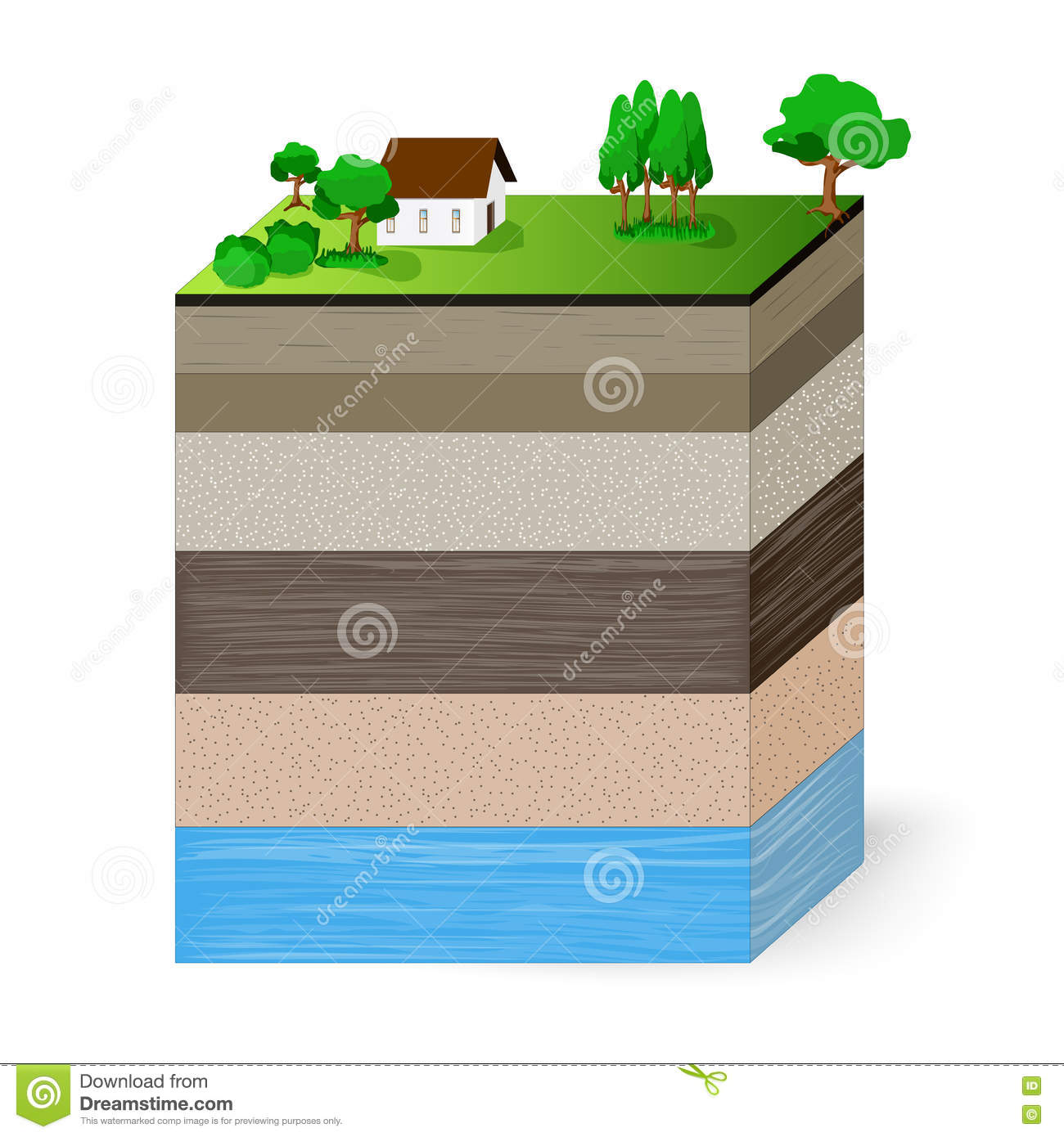 soil layers diagram s video cable groundwater cartoons illustrations and vector stock images