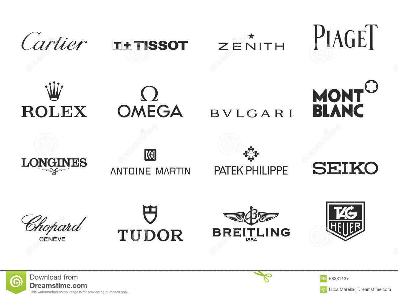 Le Luxe Observe Des Logos Photographie ditorial  Image