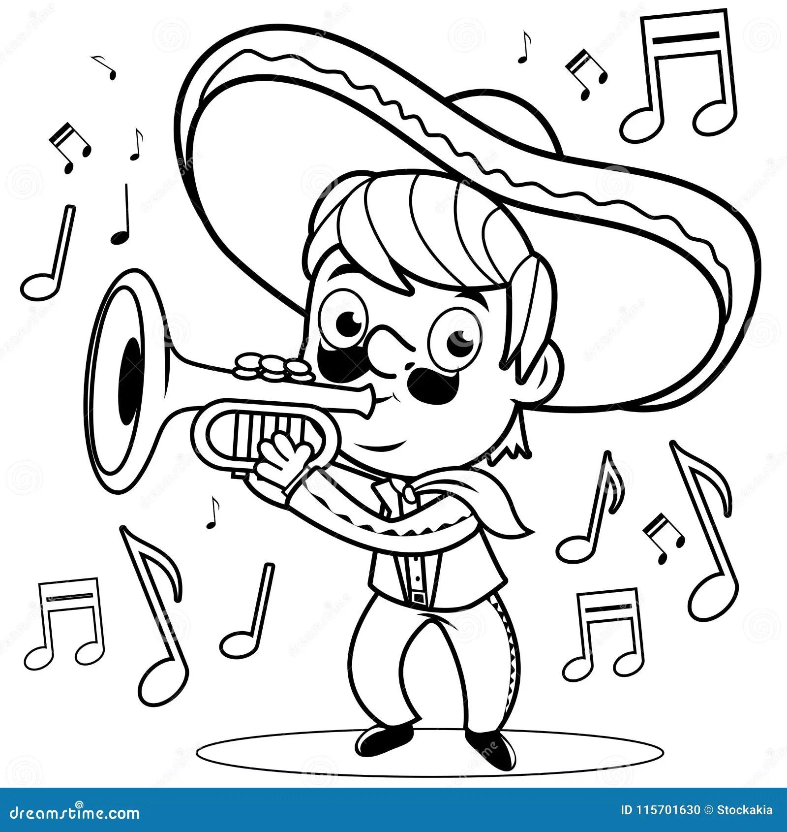 Le Mariachi Mexicain Equipent Jouer La Trompette Page
